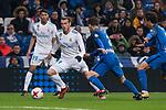 Real Madrid Achraf Hakimi and Gareth Bale and Fuenlabrada Fran Garcia during return match of King's Cup between Real Madrid and Fuenlabrada at Santiago Burnabeu Stadium in Madrid, Spain. November 28, 2017. (ALTERPHOTOS/Borja B.Hojas)