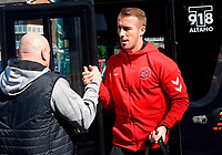 Fleetwood Town players arriving for the Sky Bet League 1 match between Southend United and Fleetwood Town at Roots Hall, Southend, England on 14 September 2019. Photo by Alan  Stanford / PRiME Media Images.