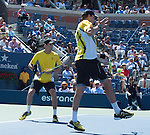 the Bryan Brothers compete at the US Open being played at USTA Billie Jean King National Tennis Center in Flushing, NY on September 5, 2013