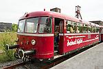 The first train stopping over at the World Cultural Heritage Site Zollverein. | Der erste Zug, der am Weltkulturerbe Zollverein Station macht.