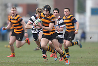 2015 ULSTER SCHOOLS CUP FINAL | Tuesday 17th March 2015<br /> <br /> Jack Conlin races clear to score the winning try during the 2015 Ulster Schools Cup Final between RBAI and Wallace High School at the Kingspan Stadium, Ravenhill Park, Belfast, Count Down, Northern Ireland.<br /> <br /> Picture credit: John Dickson / DICKSONDIGITAL