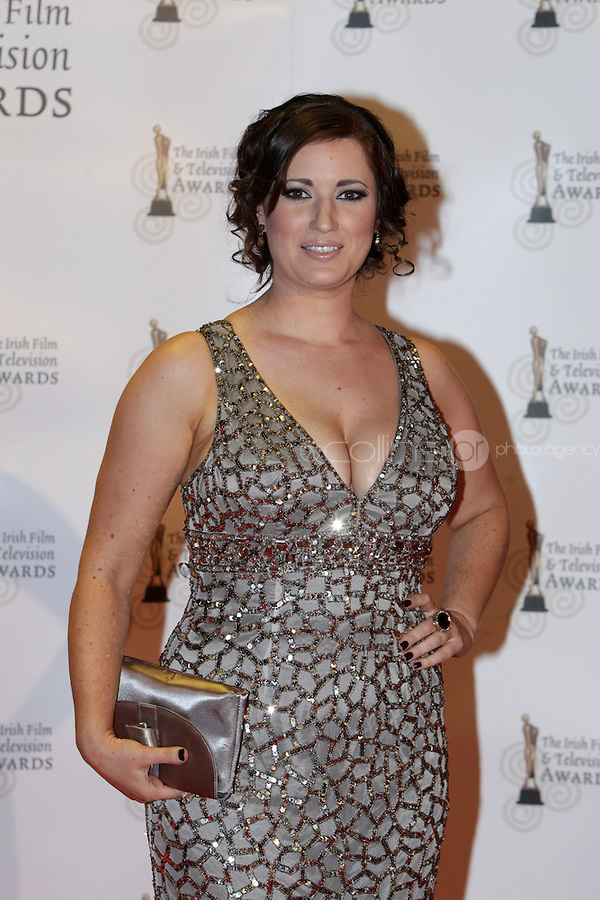 12/2/11 Elaine Crowley on the red carpet at the 8th Irish Film and Television Awards at the Convention centre in Dublin. Picture:Arthur Carron/Collins