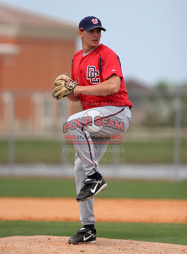 Washington Nationals minor leaguer Cole Kimball during Spring Training at the Carl Barger Training Complex on March 19, 2007 in Melbourne, Florida.  (Mike Janes/Four Seam Images)