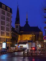 gotische Kathedrale Notre Dame, Luxemburg-City, Luxemburg, Europa, UNESCO-Weltkulturerbe<br /> Gothic cathedral Notre Dame, Luxembourg, Luxembourg City, Europe, UNESCO world heritage
