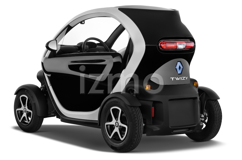 Rear three quarter view of a 2012 - 2014 Renault Twizy Technic 80 Micro Car.