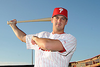 Feb 20, 2009; Clearwater, FL, USA; The Philadelphia Phillies catcher Joel Naughton (73) during photoday at Bright House Field. Mandatory Credit: Tomasso De Rosa/ Four Seam Images