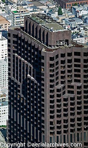 aerial photograph 555 California Street skyscraper San Francisco