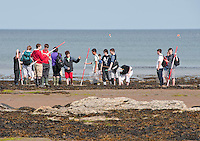 Field study students at Robin Hoods Bay, North Yorkshire.