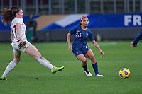 French Perle Morroni (23) pictured during the 2nd Womens International Friendly game between France and Switzerland at Stade Saint-Symphorien in Longeville-lès-Metz, France.