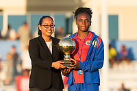 Bradenton, FL - Sunday, June 12, 2018: CONCACAF awards, Melchie Dumonay during a U-17 Women's Championship Finals match between USA and Mexico at IMG Academy.  USA defeated Mexico 3-2 to win the championship.