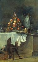 Chardin 1699-1779.  Salon de le buffet, 1738.  Louvre.  Reference only.