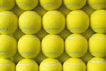 Rows of tennis balls