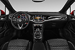 Stock photo of straight dashboard view of 2016 Opel Astra Dynamic 4 Door Hatchback Dashboard