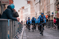 Team Gazprom-Rusvelo to the start of the Driedaagse Brugge-De Panne 2018<br /> <br /> Bruges - De Panne (202km)