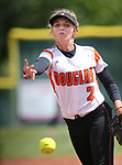 Amanda Hoffman pitches for the Douglas Tigers against the Basic Wolves in the NIAA 4A softball tournament, in Reno, Nev., on Thursday, May 17, 2018. Douglas won 8-5. Cathleen Allison/Las Vegas Review-Journal