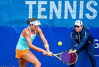 Amstelveen, Netherlands, 7 Juli, 2021, National Tennis Center, NTC, Amstelveen Womans Open, Nikki Redelijk (USA)<br /> Photo: Henk Koster/tennisimages.com