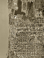 historical aerial photograph Baton Rouge, Louisiana, 1952