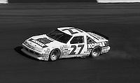 Rusty Wallace (27) Pontiac 31st place smoking Motorcraft Quality Parts 500 at Atlanta International Raceway in Hampton , GA on March 19, 1989.  (Photo by Brian Cleary/www.bcpix.com)