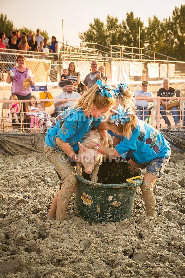 Winnemucca's Tri County Fair, Labor Day weekend<br /> <br /> Kids pig wrestling