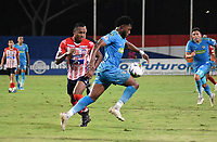 MONTERÍA- COLOMBIA,30-03-2021:Jaguares de Córdoba y Atlético Junior   en partido por la fecha 16 como parte de la Liga BetPlay DIMAYOR 2021 jugado en el estadio Jaraguay- Municipal de Montería de la ciudad de Montería. /Jaguares de Cordoba and Atletico Junior  in match for the date 16 as part of the BetPlay DIMAYOR League I 2021 played at Jaraguay- Municipal de Monteria  stadium in Monteria city. Photo: VizzorImage / Felipe López / Contribuidor
