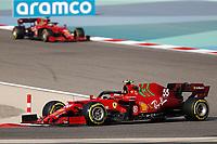 27th March 2021; Sakhir, Bahrain; F1 Grand Prix of Bahrain, Qualifying sessions;  55 SAINZ Carlos (spa), Scuderia Ferrari SF21 during Formula 1 Gulf Air Bahrain Grand Prix 2021 qualifying