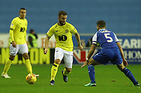 Blackburn Rovers' Adam Armstrong and Wigan Athletic's Sam Morsy<br /> <br /> Photographer Rachel Holborn/CameraSport<br /> <br /> The EFL Sky Bet Championship - Wigan Athletic v Blackburn Rovers - Wednesday 28th November 2018 - DW Stadium - Wigan<br /> <br /> World Copyright © 2018 CameraSport. All rights reserved. 43 Linden Ave. Countesthorpe. Leicester. England. LE8 5PG - Tel: +44 (0) 116 277 4147 - admin@camerasport.com - www.camerasport.com