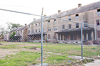 The public housing projects of the city of New Orleans remain closed, on November 27, 2005.