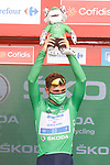 Fabio Jakobsen (NED) Deceuninck-Quick Step wins Stage 8 and retakes the points Green Jersey of La Vuelta d'Espana 2021, running 173.7km from Santa Pola to La Manga del Mar Menor, Spain. 21st August 2021.     <br /> Picture: Luis Angel Gomez/Photogomezsport | Cyclefile<br /> <br /> All photos usage must carry mandatory copyright credit (© Cyclefile | Luis Angel Gomez/Photogomezsport)