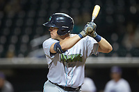 Nolan Jones (10) of the Lynchburg Hillcats pinch-hits in the top of the ninth inning against the Winston-Salem Dash at BB&T Ballpark on May 9, 2019 in Winston-Salem, North Carolina. The Dash defeated the Hillcats 4-1. (Brian Westerholt/Four Seam Images)
