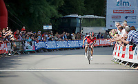 stage winner Philippe Gilbert (BEL/BMC) coming in solo<br /> <br /> Ster ZLM Tour 2014