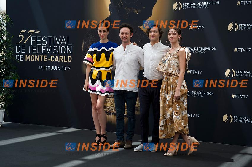 Elisa Lasowski - George Blagden - Alexander Vlahos - Anna Brewster (Versailles) Monaco - 17/06/2017<br /> 57 festival TV Monte Carlo <br /> Foto Norbert Scanella / Panoramic / Insidefoto