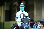March 6, 2021: Jockey Jon Court aboard Will's Secret before the running of the Honeybee Stakes (G3) at Oaklawn Racing Casino Resort in Hot Springs, Arkansas on March 6, 2021. Justin Manning/Eclipse Sportswire/CSM
