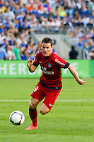 Kevin Gameiro (19) of Paris Saint-Germain. Chelsea FC and Paris Saint-Germain played to a 1-1 tie during a 2012 Herbalife World Football Challenge match at Yankee Stadium in New York, NY, on July 22, 2012.