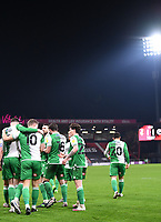 12th January 2021; Vitality Stadium, Bournemouth, Dorset, England; English Football League Championship Football, Bournemouth Athletic versus Millwall; Matt Smith of Millwall celebrates with his team after scoring in the 79th minute 1-1