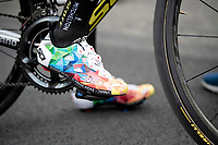 the sweetest kicks in the pro peloton as worn by Esteban Chavez (COL/Mitchelton-Scott) > colours from the foundation that caries his name<br /> <br /> Stage 10: Ravenna to Modena (147km)<br /> 102nd Giro d'Italia 2019<br /> <br /> ©kramon