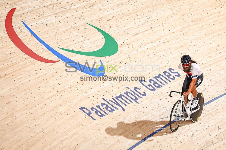 Picture by Alex Whitehead/SWpix.com - Tokyo 2020 Paralympics - 24/08/2021 - Track Cycling - Izu Velodrome, Izu, Japan - Joseph Berenyi of the USA during practice.