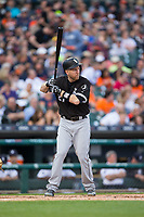 Todd Frazier (21) of the Chicago White Sox at bat against the Detroit Tigers at Comerica Park on June 2, 2017 in Detroit, Michigan.  The Tigers defeated the White Sox 15-5.  (Brian Westerholt/Four Seam Images)
