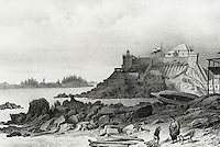 Headquarters Of The Russian American Company At Sitka, 1827 Artist Unknown