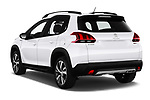 Car pictures of rear three quarter view of 2019 Peugeot 2008 GT-Line 5 Door SUV Angular Rear