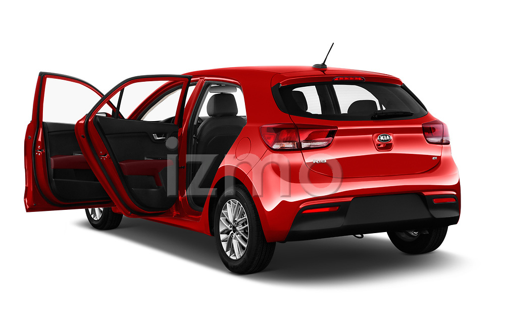 Car images close up view of a 2018 KIA Rio EX 5 Door Hatchback doors