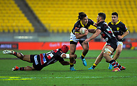 Peter Umaga-Jensen in action during the Mitre 10 Cup rugby match between Wellington Lions and Counties Manukau Steelers at Westpac Stadium in Wellington, New Zealand on Wednesday, 29 August 2019. Photo: Dave Lintott / lintottphoto.co.nz