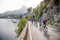 Jonathan Castroviejo (ESP/Ineos) setting the pace in the peloton while riding alongside Lake Como<br /> <br /> 113th Il Lombardia 2019 (1.UWT)<br /> 1 day race from Bergamo to Como (ITA/243km)<br /> <br /> ©kramon