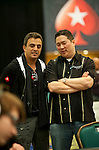 Team Pokerstars Pro Joe Hachem talks to Benard Lee