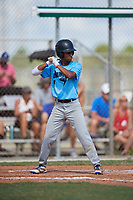 Kennedy Jordan during the WWBA World Championship at the Roger Dean Complex on October 19, 2018 in Jupiter, Florida.  Kennedy Jordan is an outfielder from Nashville, Tennessee who attends Goodpasture Christian School.  (Mike Janes/Four Seam Images)
