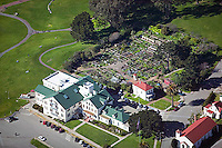 aerial photograph of the pet cemetery, Presidio, San Francisco, California