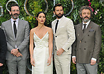 """Jon Hamm, Adria Arjona, David Tennant and Michael Sheen at the """"Good Omens"""" UK TV premiere, Odeon Luxe Leicester Square, Leicester Square, London, England, UK, on Tuesday 28th May 2019.<br /> CAP/CAN<br /> ©CAN/Capital Pictures /MediaPunch ***NORTH AND SOUTH AMERICAS ONLY***"""