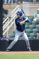 Willie Abreu (6) of the Asheville Tourists at bat against the Kannapolis Intimidators at Kannapolis Intimidators Stadium on May 7, 2017 in Kannapolis, North Carolina.  The Tourists defeated the Intimidators 4-1.  (Brian Westerholt/Four Seam Images)