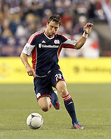 In a Major League Soccer (MLS) match, the New England Revolution tied Houston Dynamo, 2-2, at Gillette Stadium on May 19, 2012.