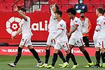 Sevilla FC's Youssef En-Nesyri celebrates goal during La Liga match. January 23,2021. (ALTERPHOTOS/Jose Luis Contreras)
