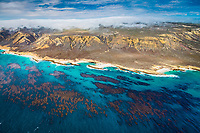 San Miguel Island south side, aerial photograph, Channel Islands National Park, California, USA